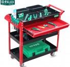 老A 塑料四层工具车 (红色)